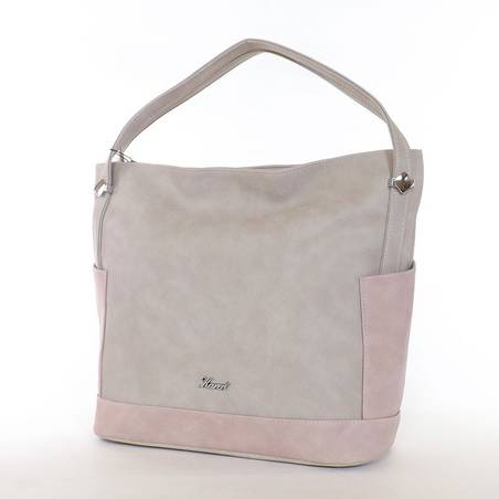 Karen drapp-púder rostbőr női táska