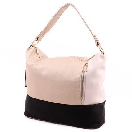 Karen arany-fekete-bézs rostbőr női táska