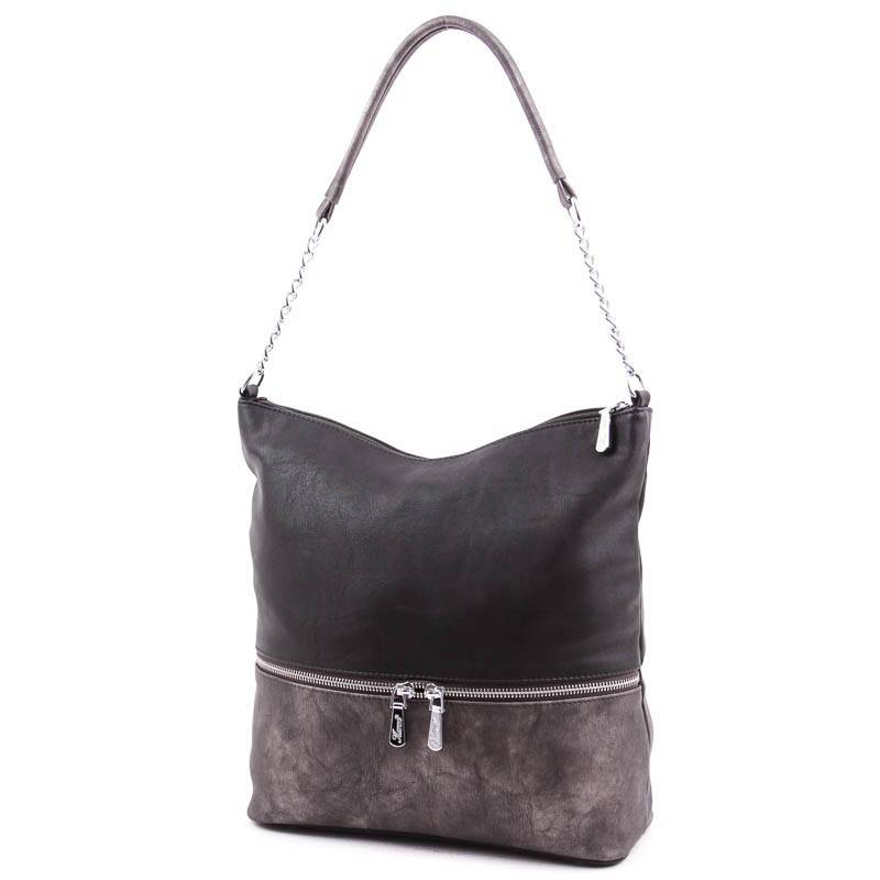 Karen fekete-bronz rostbőr női táska