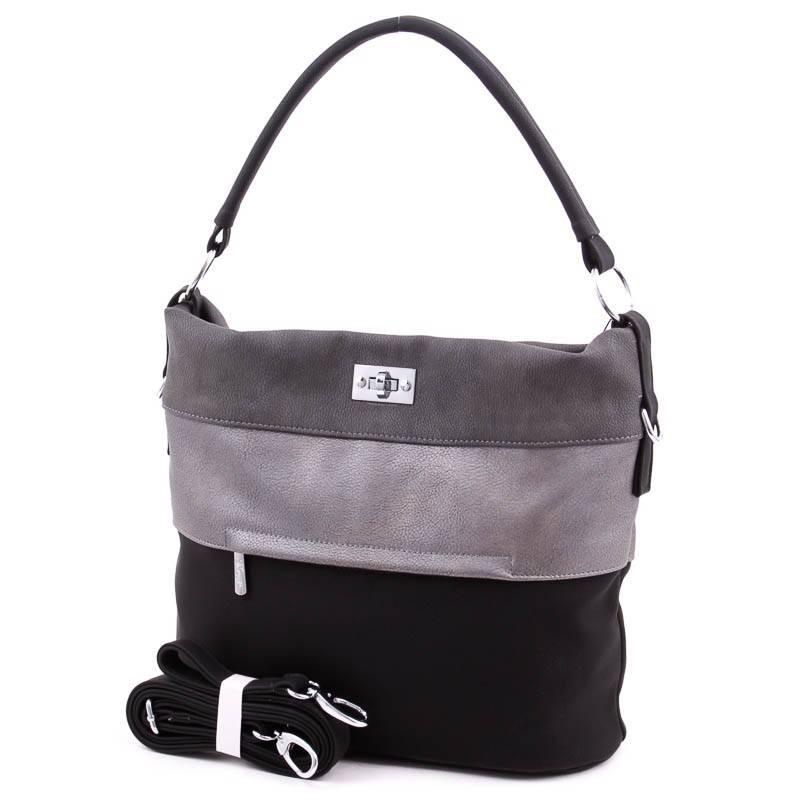 Karen fekete-szürke-ezüst rostbőr női táska  4435 51d923eb55