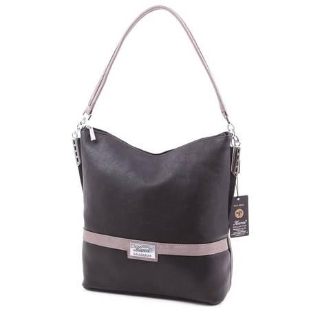 Karen fekete-ezüst női rostbőr táska