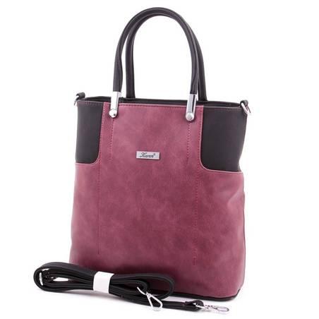 Karen bordó-fekete rostbőr női táska