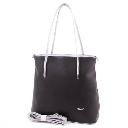 Karen fekete-ezüst rostbőr női táska