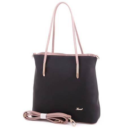 Karen fekete-rosegold rostbőr női táska