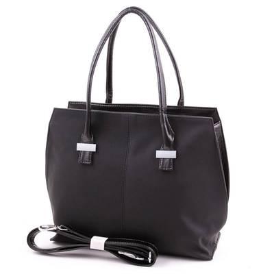 Karen fekete rostbőr női táska