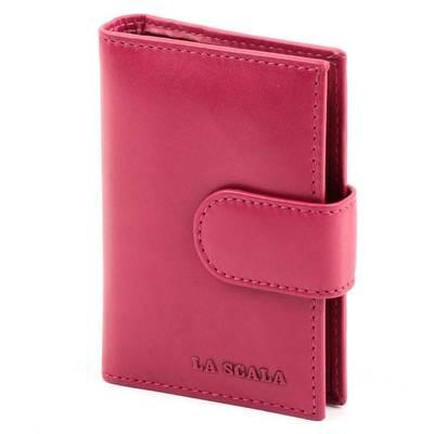 La Scala pink bőr kártyatartó