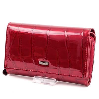 Loren piros női bőr pénztárca