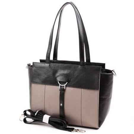 Karen fekete-bronz női rostbőr táska