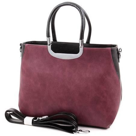 Karen fekete-bordó női rostbőr táska