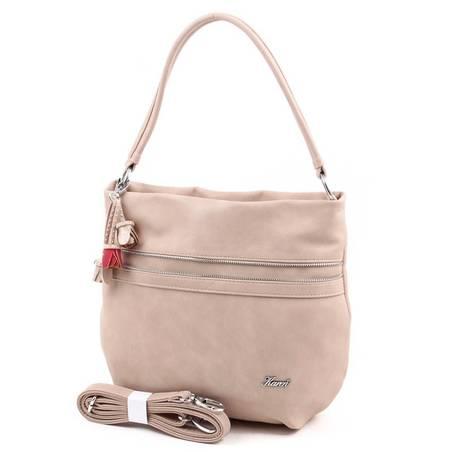 Karen homokszínű rostbőr női táska
