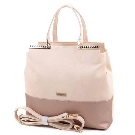 Karen bézs-rosegold rostbőr női táska