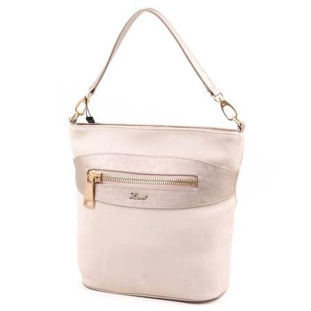 Karen bézs-arany rostbőr női táska
