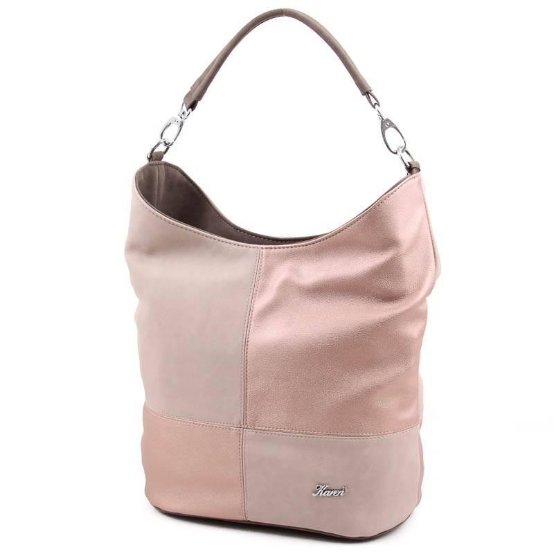 Karen kávébarna-rosegold rostbőr női táska  4657 787f55a3d2