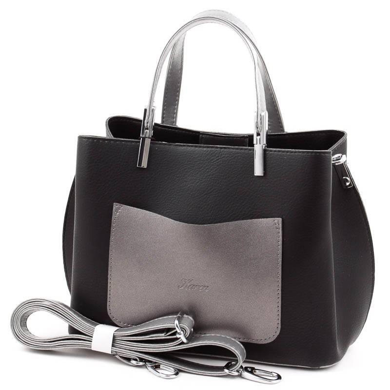 Karen fekete-ezüst rostbőr női táska deadb2093e