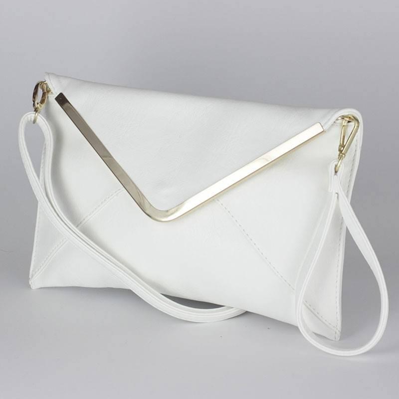 2b87ef86f65b Divatos fehér női boríték táska #457
