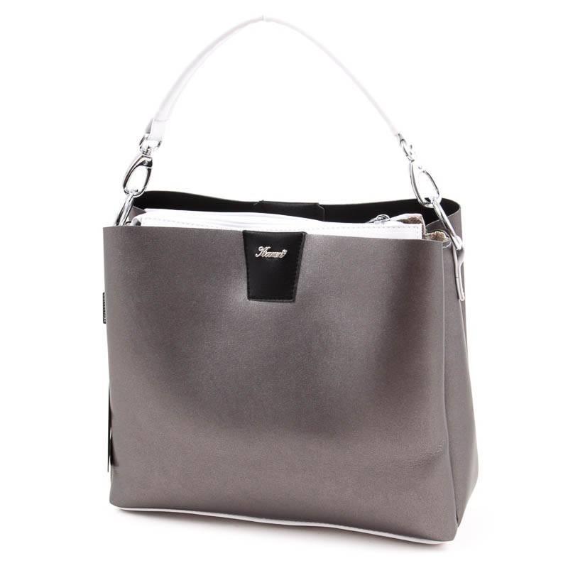 Karen ezüst-fehér rostbőr női táska  4675 0344c49a99