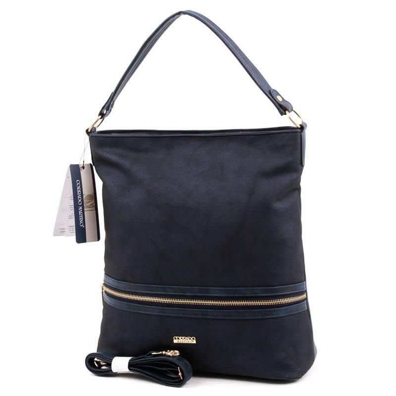 Corrado Martino kék rostbőr női táska