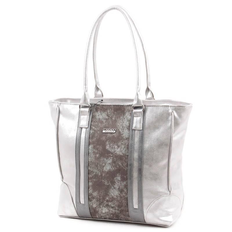 Corrado Martino ezüst színű rostbőr női táska  4690 84bf163500
