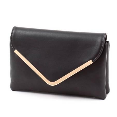 Run Fa fekete női boríték táska