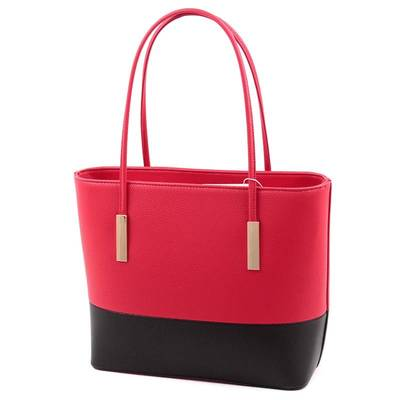 Run Fa piros-fekete női táska