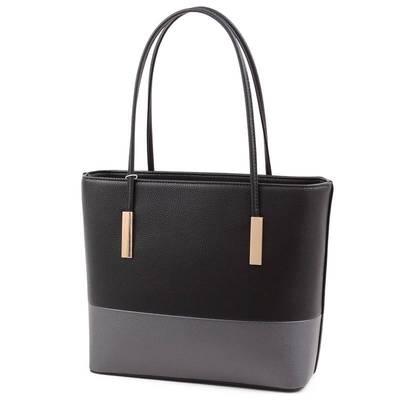 Run Fa fekete-szürke női táska