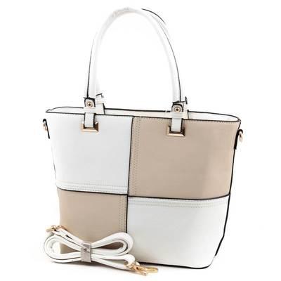 Run Fa fehér-bézs női táska