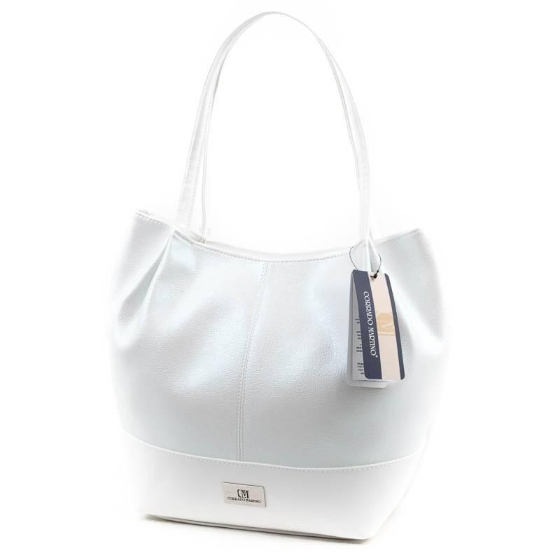 Corrado Martino fehér rostbőr női táska  4738 2b5fba0363