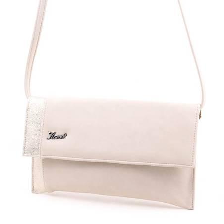 Karen bézs-arany női rostbőr alkalmi táska