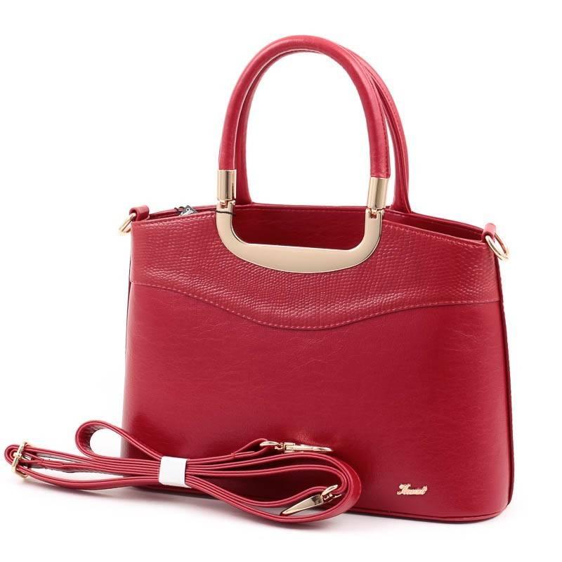 Karen piros merev falú női rostbőr táska  4817 4573e239c7