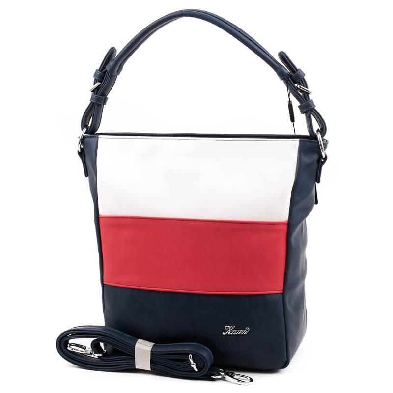 Karen kék-fehér-piros rostbőr női táska f13f279c25