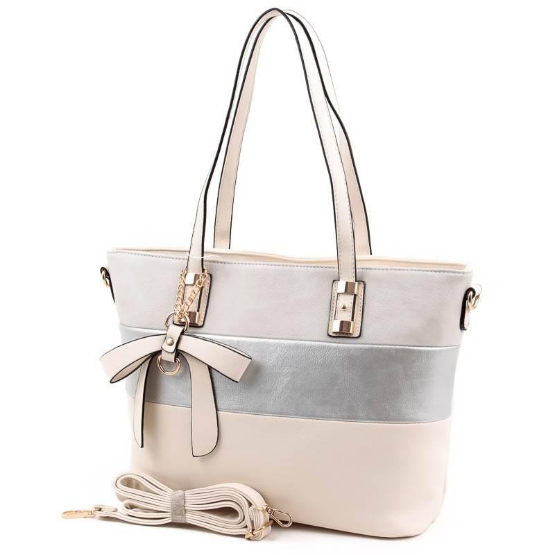 L N bézs-ezüst-szürke női táska  4777 ccb82d31e7