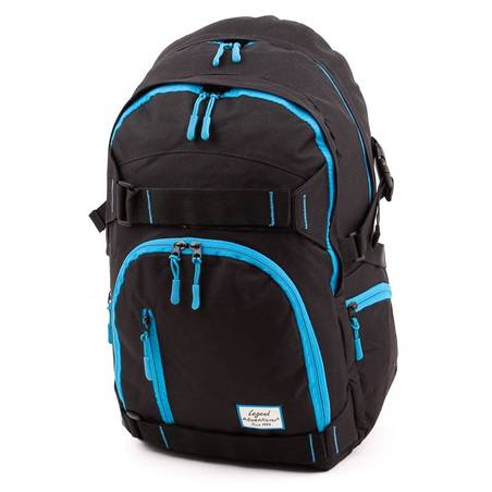Adventurer fekete-kék laptoptartós hátizsák