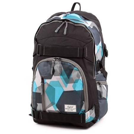 Adventurer fekete-mintás laptoptartós hátizsák