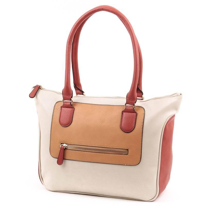 cf7ec78045a9 Chenson bézs-barna női táska #4860