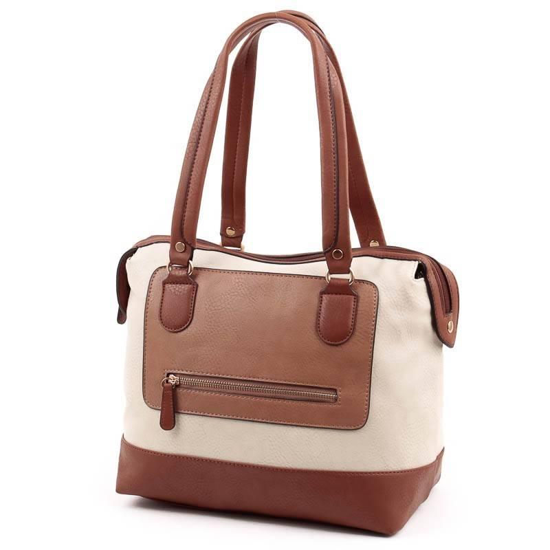 378b7cdee5e5 Chenson bézs-barna női táska #4864