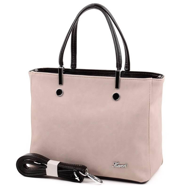 Karen kávébarna-fekete rostbőr női táska  4913 5dcfc41488