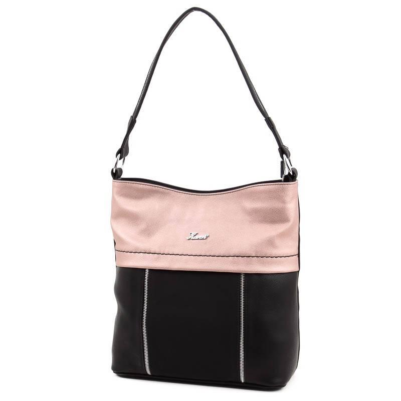 Karen fekete-rosegold rostbőr női táska  4914 246a203ece