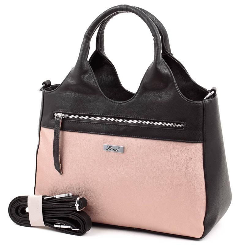 Karen fekete-rosegold rostbőr női táska  4918 9be3a622ac