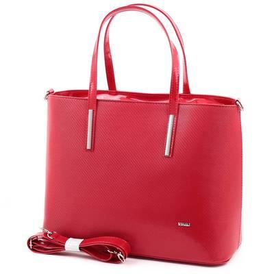 Via55 piros rostbőr női táska