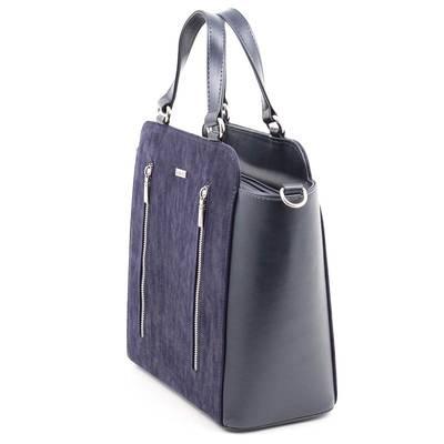 Via55 kék rostbőr női táska
