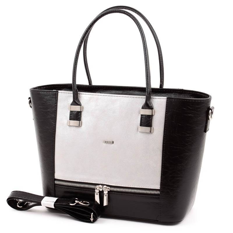 Via55 fekete-ezüst rostbőr női táska  4947 336e17de46