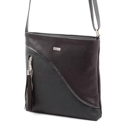 Via55 fekete rostbőr női táska