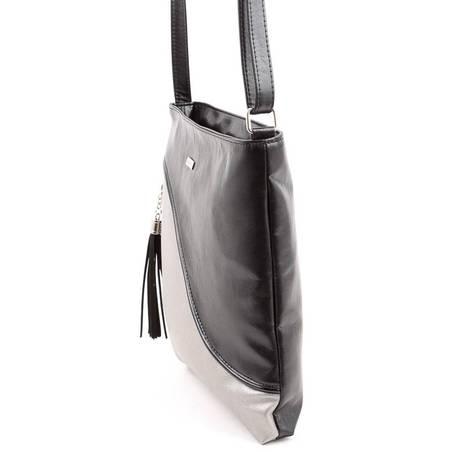 Via55 fekete-ezüst rostbőr női táska  4952 d5506de157