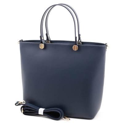 Kék olasz bőr női táska