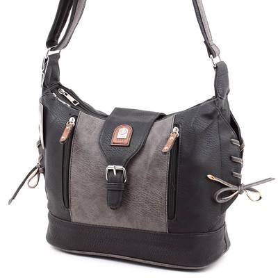 L&H Bags fekete-szürke női...