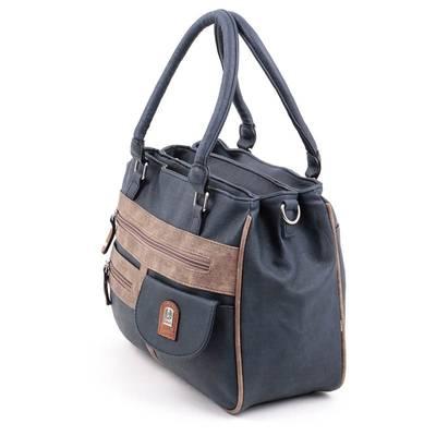 L&H Bags kék-barna női táska