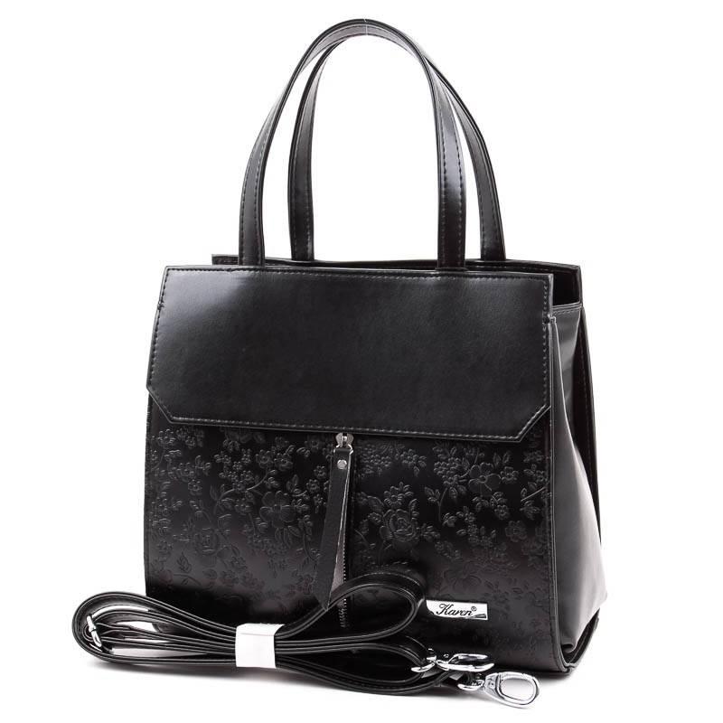 Karen fekete női rostbőr táska  5067 4316cd643d
