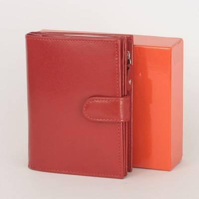 Piros bőr pénztárca