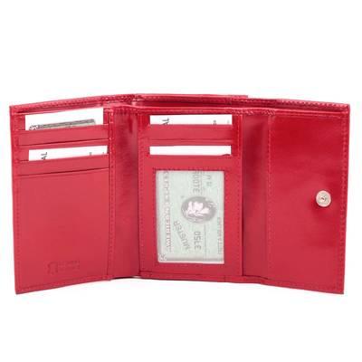 Női piros bőr pénztárca