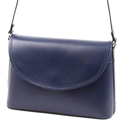 Kék női olasz bőr táska